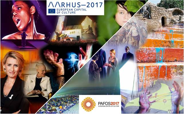 Aarhus and Pafos, European Capitals of Culture in 2017
